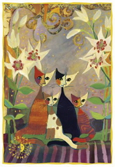 Pozdrav Rosina Wachtmeister - cats with lilies