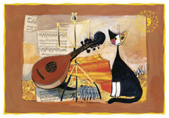 Pohľadnica Rosina Wachtmeister - Musical cat
